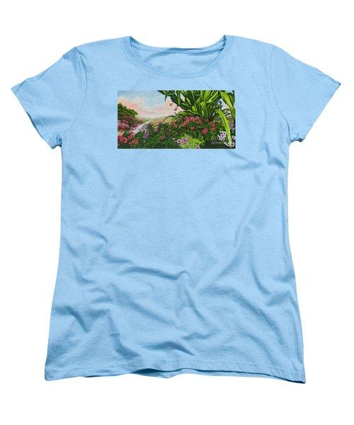 Flower Garden Vii Women's T-Shirt (Standard Cut) by Michael Frank