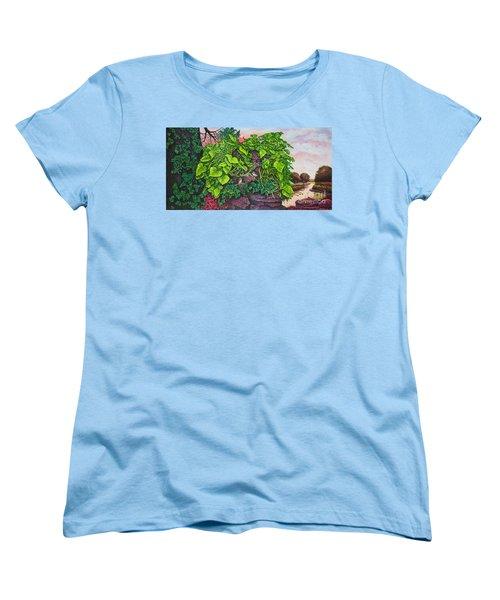 Flower Garden Viii Women's T-Shirt (Standard Cut) by Michael Frank