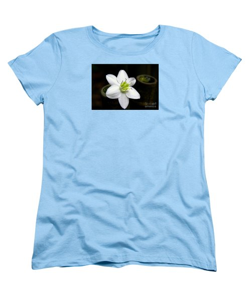 Flower On Bamboo Women's T-Shirt (Standard Cut) by Lisa L Silva