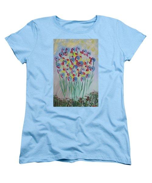 Flower Twists Women's T-Shirt (Standard Cut) by Barbara Yearty