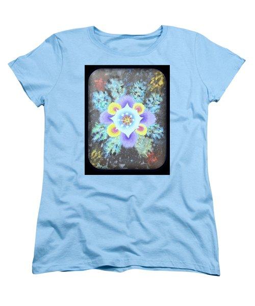 Floral Vortex Women's T-Shirt (Standard Cut)