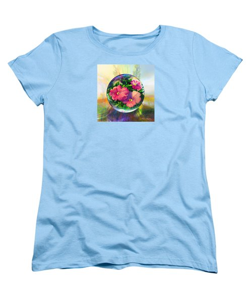 Women's T-Shirt (Standard Cut) featuring the painting Flowering Panopticon by Robin Moline