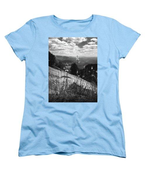 Flowers At The Top Of Table Rock Trail Women's T-Shirt (Standard Cut) by Kelly Hazel