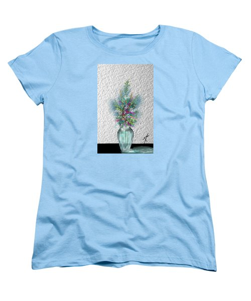Women's T-Shirt (Standard Cut) featuring the digital art Flowers Study Two by Darren Cannell