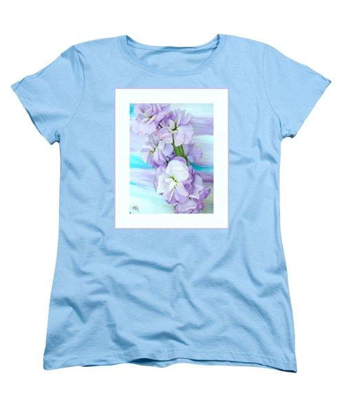 Fluffy Flowers Women's T-Shirt (Standard Cut) by Marsha Heiken
