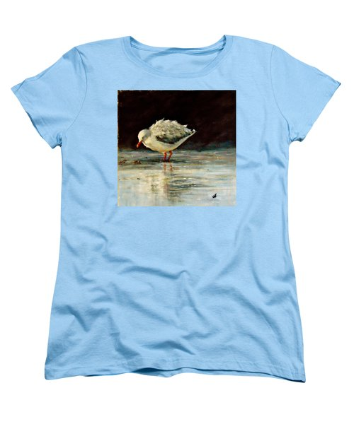 Women's T-Shirt (Standard Cut) featuring the painting Fluffy Jonathan.. by Cristina Mihailescu