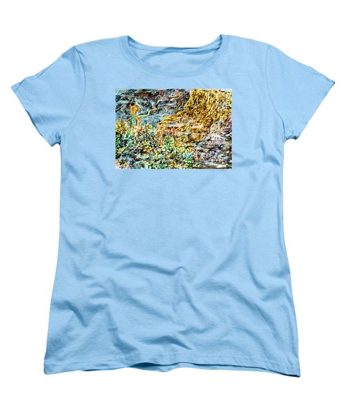 Women's T-Shirt (Standard Cut) featuring the painting Flutes Breath by Alfred Motzer