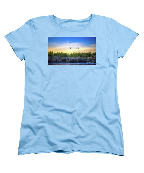 Women's T-Shirt (Standard Cut) featuring the photograph Fly Away by Maddalena McDonald