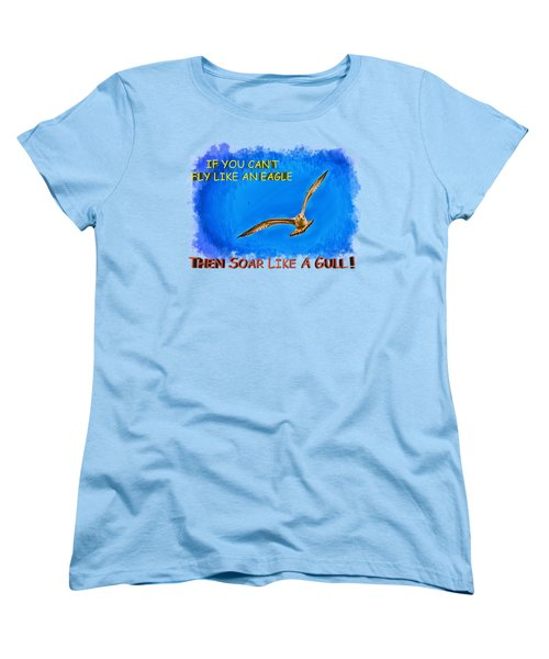 Flying Gull Women's T-Shirt (Standard Cut) by John M Bailey