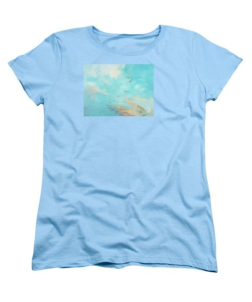 Women's T-Shirt (Standard Cut) featuring the painting Flying High by Dina Dargo
