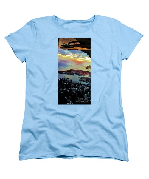Women's T-Shirt (Standard Cut) featuring the photograph Flying Into Honolulu II by Craig Wood