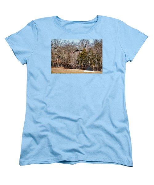 Flying Over Cloud Field Women's T-Shirt (Standard Cut) by TnBackroadsPhotos