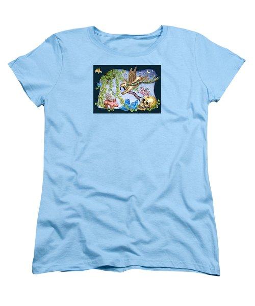 Flying Pig Party 2 Women's T-Shirt (Standard Cut) by Retta Stephenson