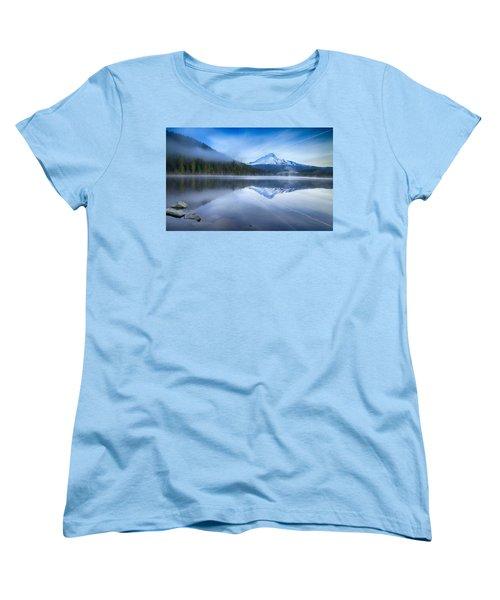 Fog And The Lake Women's T-Shirt (Standard Cut)