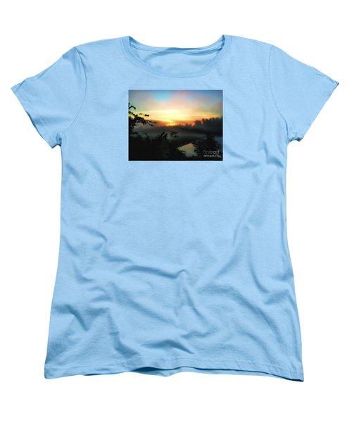 Foggy Edges Sunrise Women's T-Shirt (Standard Cut) by Craig Walters
