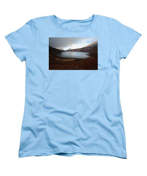 Women's T-Shirt (Standard Cut) featuring the photograph Foggy Favre Lake by Jenessa Rahn