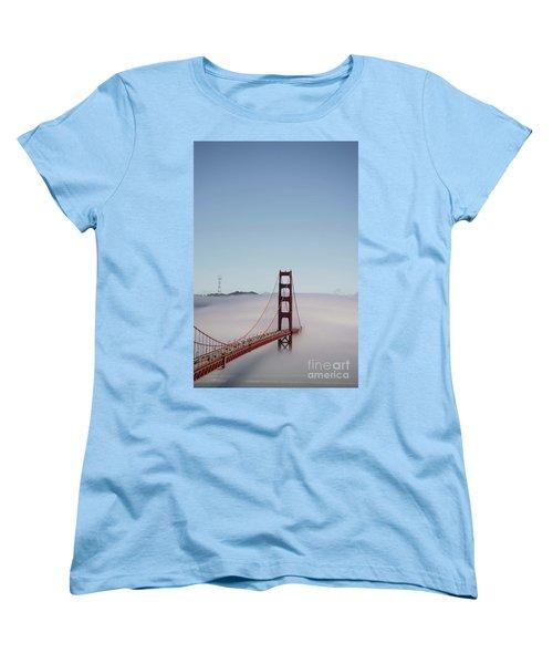Women's T-Shirt (Standard Cut) featuring the photograph Foggy Golden Gate by David Bearden