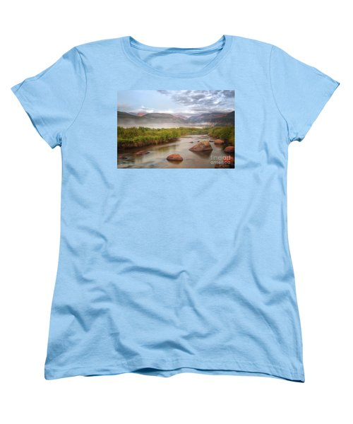Foggy Morning In Moraine Park Women's T-Shirt (Standard Cut) by Ronda Kimbrow