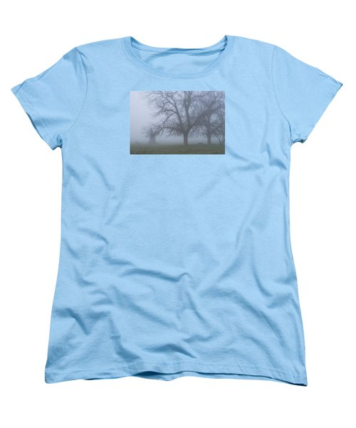 Women's T-Shirt (Standard Cut) featuring the photograph Foggy Morning by Randy Bayne