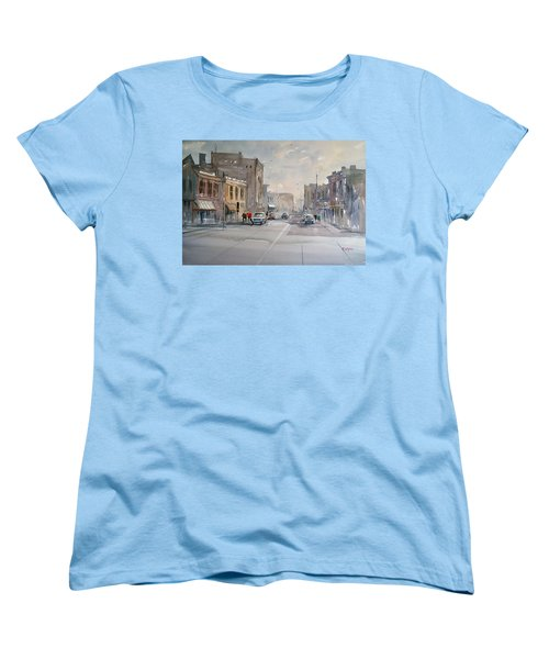 Fond Du Lac - Main Street Women's T-Shirt (Standard Cut) by Ryan Radke