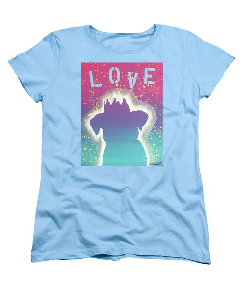 For The Love Of Pups Women's T-Shirt (Standard Cut) by Melissa Goodrich