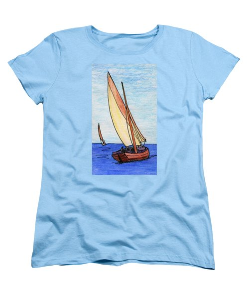 Force Of The Wind On The Sails Women's T-Shirt (Standard Cut) by R Kyllo