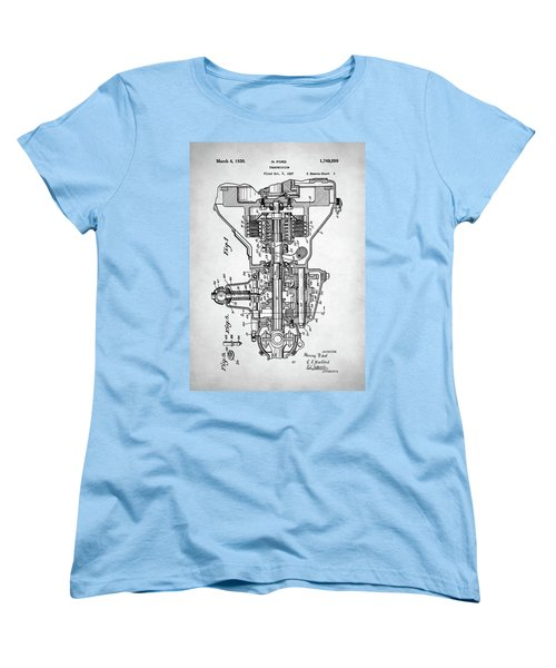 Ford Engine Patent Women's T-Shirt (Standard Cut) by Taylan Apukovska