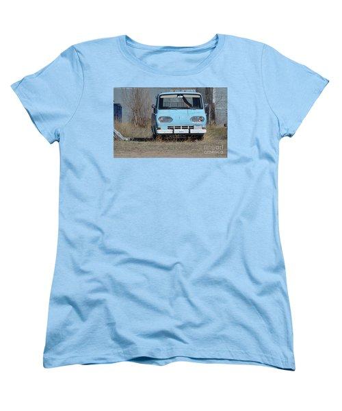 Ford Light Blue Women's T-Shirt (Standard Cut) by Renie Rutten
