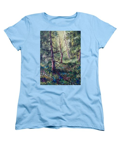 Forest Wildflowers Women's T-Shirt (Standard Cut) by Megan Walsh