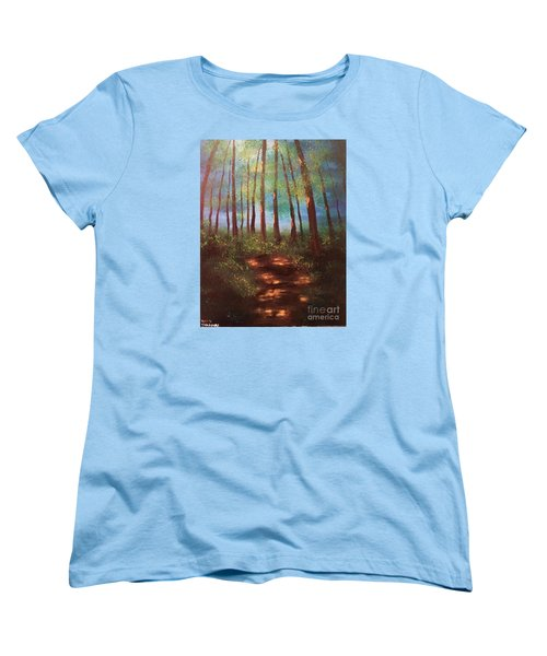 Forests Glow Women's T-Shirt (Standard Cut) by Denise Tomasura