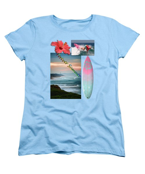 Women's T-Shirt (Standard Cut) featuring the photograph Forever Summer 5 by Linda Lees