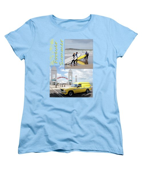 Women's T-Shirt (Standard Cut) featuring the photograph Forever Summer 6 by Linda Lees