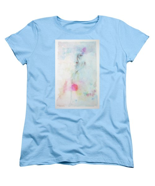 Women's T-Shirt (Standard Cut) featuring the painting Forlorn Me by Rachel Hames