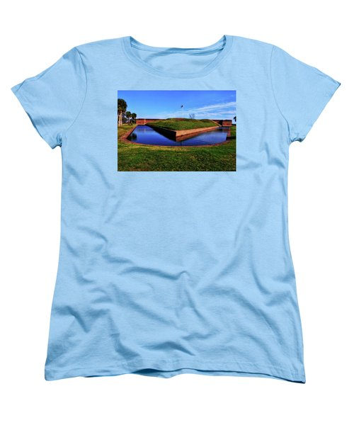 Fort Pulaski Moat - Demilune Wall 001 Women's T-Shirt (Standard Cut) by George Bostian