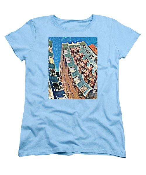 Fort Washington Avenue Building Women's T-Shirt (Standard Cut) by Sarah Loft
