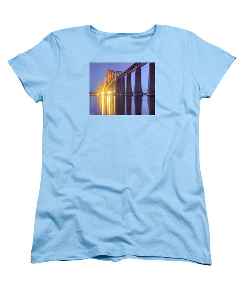Women's T-Shirt (Standard Cut) featuring the photograph Forth Bridge Twilight by Ray Devlin