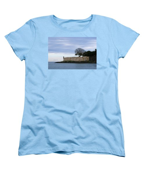 Women's T-Shirt (Standard Cut) featuring the photograph Fortress Wall by Lois Lepisto