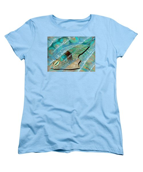 Women's T-Shirt (Standard Cut) featuring the painting Fossil On The Shore by Suzanne McKee
