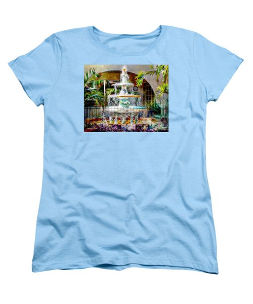 Fountain Of Water Women's T-Shirt (Standard Cut) by Barbara Chichester