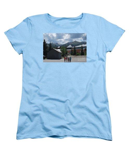 Four Little Children Safe In A Big Beautiful World Telluride Colorado Women's T-Shirt (Standard Cut) by Heather Kirk