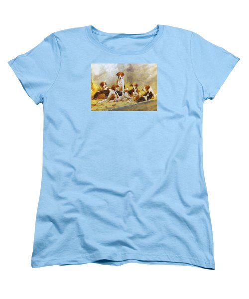 Fox Hounds Women's T-Shirt (Standard Cut) by Charmaine Zoe