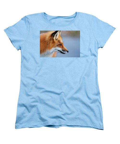 Fox Profile Women's T-Shirt (Standard Cut) by Mircea Costina Photography