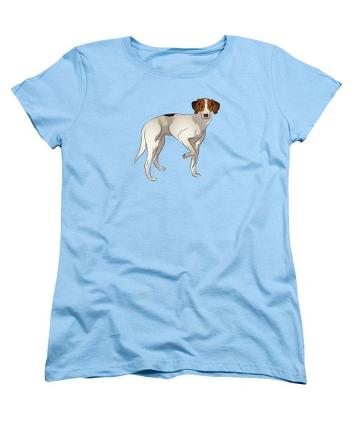 Women's T-Shirt (Standard Cut) featuring the digital art Foxhound by MM Anderson