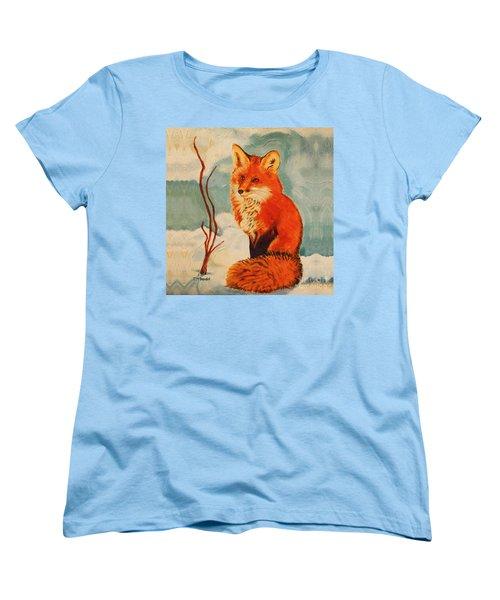 Foxy Presence Throw Pillow Women's T-Shirt (Standard Cut)