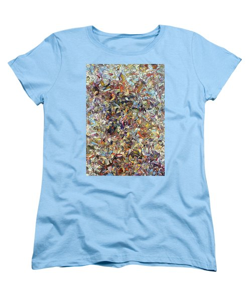 Women's T-Shirt (Standard Cut) featuring the painting Fragmented Horse by James W Johnson