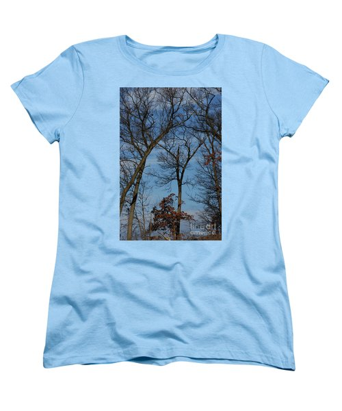 Framed In Oak - 1 Women's T-Shirt (Standard Cut) by Linda Shafer
