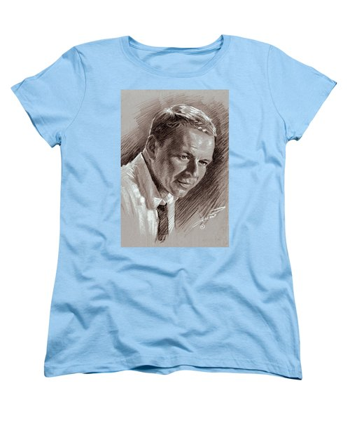 Frank Sinatra  Women's T-Shirt (Standard Cut) by Ylli Haruni