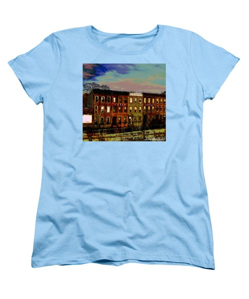 Franklin Ave. Bk Women's T-Shirt (Standard Cut) by Iowan Stone-Flowers