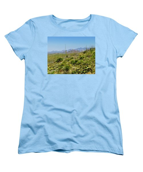 Franklin Mountains State Park Facing North Women's T-Shirt (Standard Cut) by Allen Sheffield