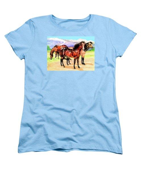 Free Range Women's T-Shirt (Standard Cut) by Cheryl Poland